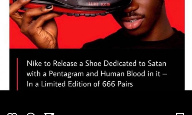 Shoes Launched to Glorify Satan